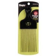 Long metal pik afro comb