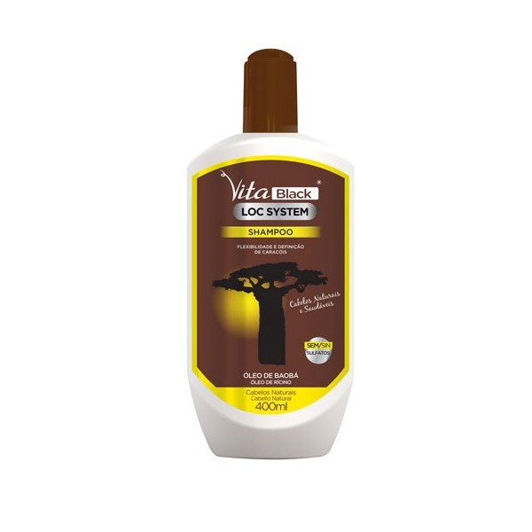 VITABLACK Shampoing huiles de BAOBAB & RICIN 400ml