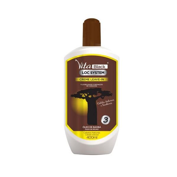 VITABLACK Crème hydratante pour boucles 400ml ( Leave-in Cream)