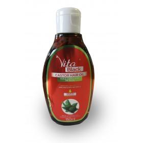 VITABLACK Huile capillaire de RICIN 100% NATURELLE 150ml (Castor Hair Oil)