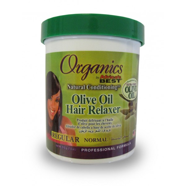 ORGANICS by AFRICA'S BEST Crème défrisante huile d'olive REGULAR 219g (Hair Relaxer)