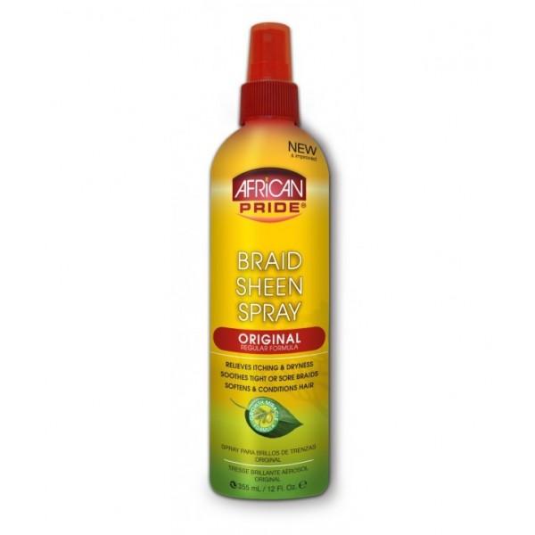 AFRICAN SPRAY Spray spécial tresse brilliance regular 355ml (Braid Sheen Spray)