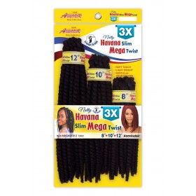 "NEW BORN FREE natte 3xHAVANNA SLIM MEGA TWIST 8""10""12"""