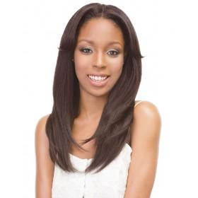 JANET perruque 1B STRAIGHT wig (Bonnet en U avec Clips)