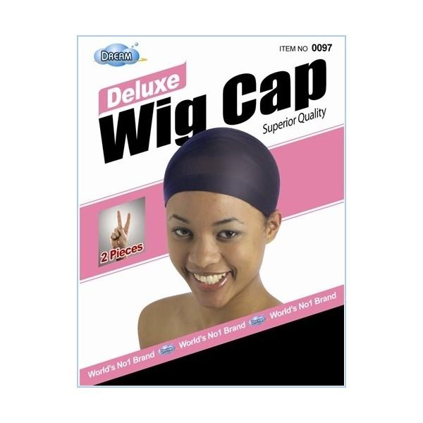 """DREAM Bonnet perruque """"deluxe wig cap"""" x2 (NOIR)"""