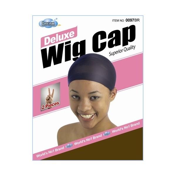 "DREAM Bonnet perruque ""deluxe wig cap"" x2 (MARRON)"