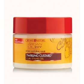 CREME OF NATURE Gel pour boucles ARGAN 326 g (Twirling Custard)