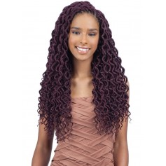 "FREETRESS natte 2x SOFT CURLY FAUX LOC 18"" (Loop)"