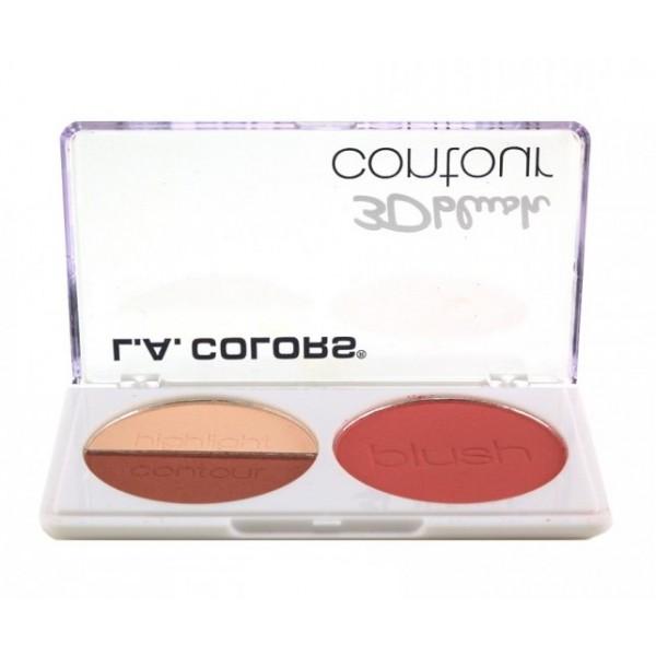 L.A COLORS Palette 3D BLUSH CONTOUR 8g