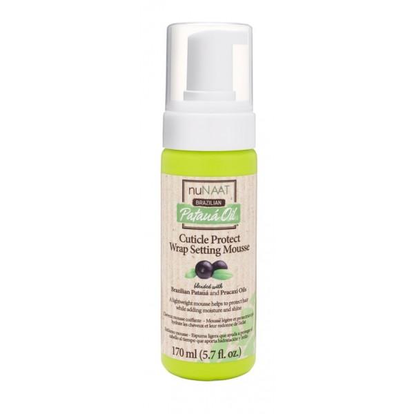 NUNAAT Mousse coiffante HUILE de PATAUA 170 ml (Cuticle Protect Wrap Setting)