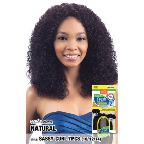 "MODEL MODEL tissage FRESH WET & WAVY SASSY CURL 7pcs 10"", 12"", 14"""