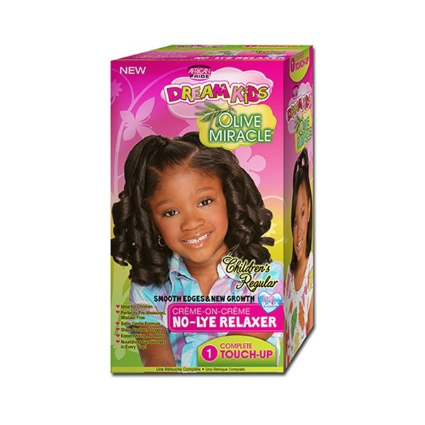 AFRICAN PRIDE Kit défrisant OLIVE MIRACLE KIDS (Normal)