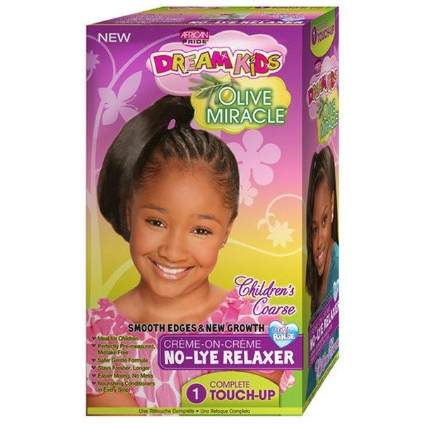 AFRICAN PRIDE Kit défrisant OLIVE MIRACLE KIDS (Super)