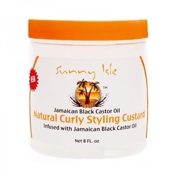 SUNNY ISLE Gelée coiffante JAMAICAN BLACK CASTOR OIL 236ml (Curly Custard)