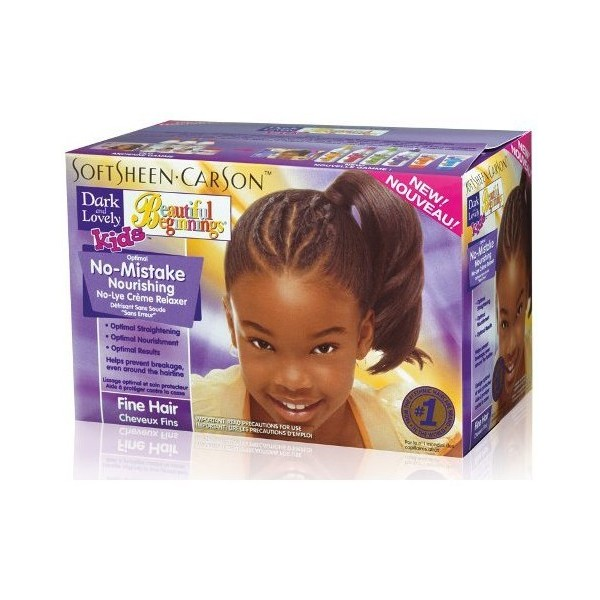DARK & LOVELY Kids Kit défrisant enfants Beautiful Beginnings CHEVEUX FINS
