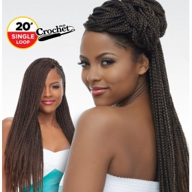 "HARLEM natte SENEGAL BOX BRAID 20"" (Loop)"