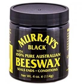 MURRAY'S Brillantine cire d'abeille noire 100% AUTRALIENNE 114g (BLACK BEESWAX)