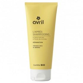 AVRIL Après-shampooing cheveux secs et abîmés ALOE VERA & RICIN BIO 200ml
