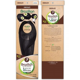 EVER CHOCOLATE tissage BRAZILIAN STRAIGHT 3pcs