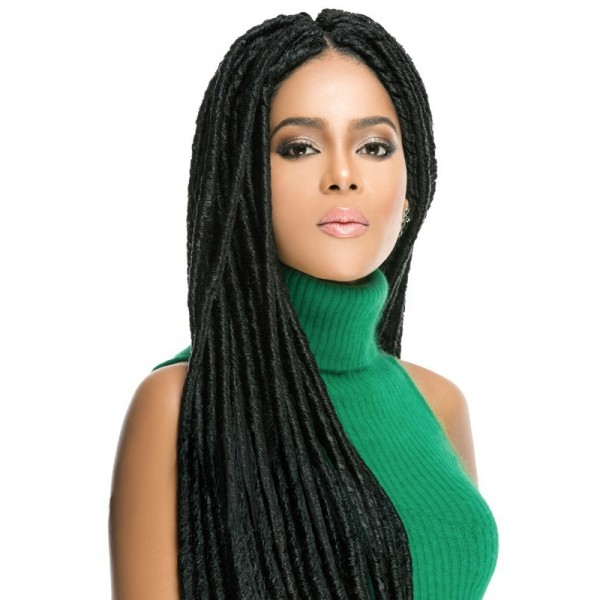 "EVER CHOCOLATE natte 2x FAUX LOCS 12"" (Loop)"