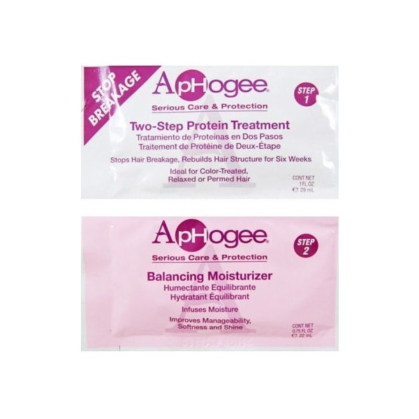Aphogee Kit de soin duo Two Step Protein Treatment & Balancing Moisturizer