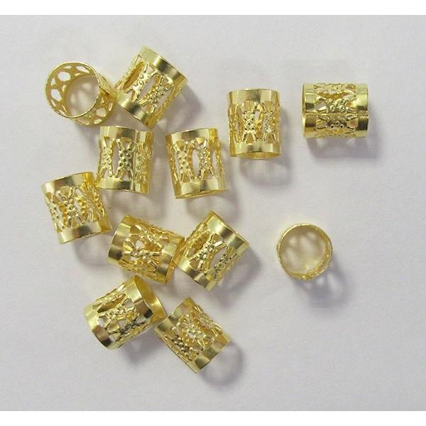 Perles pour nattes et locks GOLD