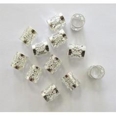 EDEN Perles pour nattes et locks SILVER 53414 format LARGE