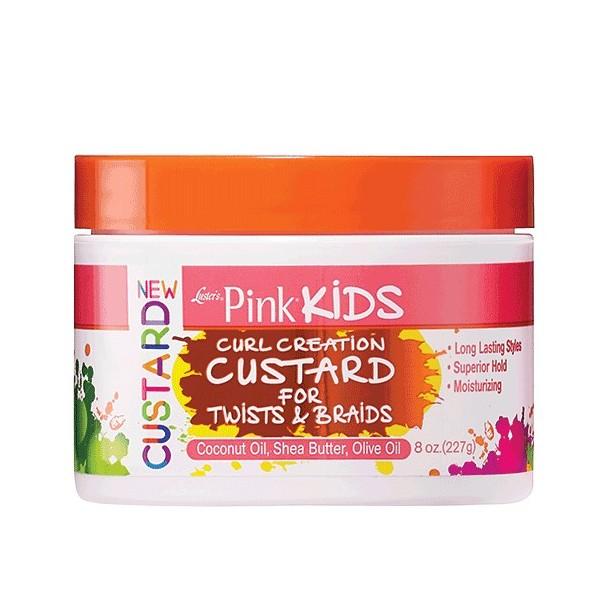 LUSTER'S PINK KIDS Crème définissante pour twists et tresses 227g (Curl Creation Custard)