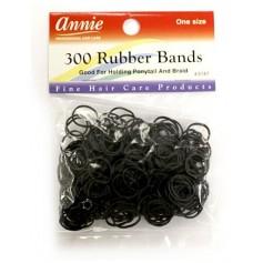 Black elastic bands x 300