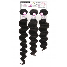 "NEW BORN FREE tissage BRAZILIAN LOOSE WAVE 3PCS 14"",16"",18"""