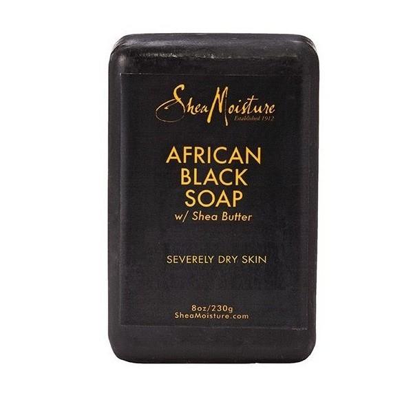 SHEA MOISTURE Savon noir African Black Soap & Karité 230g