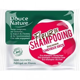 DOUCE NATURE Fleur de shampooing pour cheveux secs BIO 85g