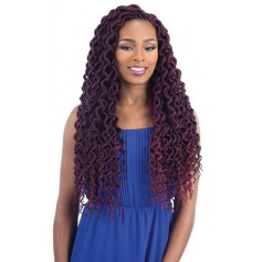 FREETRESS natte 2X PLUMPY CURLY Faux Loc (Loop)