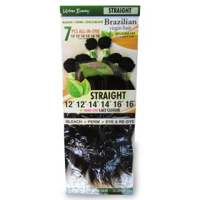 URBAN BEAUTY tissage BRAZILIAN STRAIGHT 7 PCS