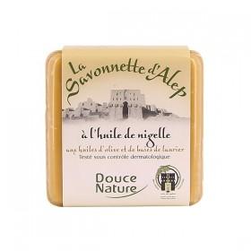 DOUCE NATURE Savonnette d'Alep à l'huile de Nigelle 100g