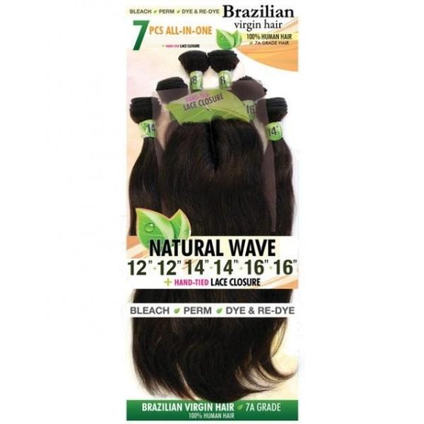 URBAN BEAUTY tissage BRAZILIAN NATURAL WAVE 7 PCS