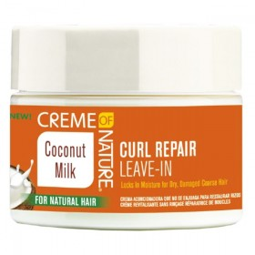 CREME OF NATURE Leave-in réparateur de boucles Curl Repair COCONUT MILK 326g