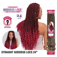"FEMI natte STRAIGHT GODDESS LOCS BRAID 24"" (LOOP)"