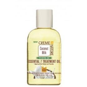 CREAM OF NATURE Treatment with 7 essential oils COCONUT MILK 118.3ml