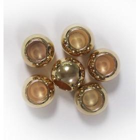 Perles dorées pour nattes & locs x6
