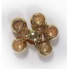 Perles dorées rondes pour nattes & locks x6