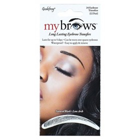 GODEFROY Sourcils auto-collants NATURAL BLACK x24