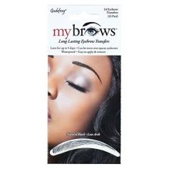 Sourcils auto-collants NATURAL BLACK x24