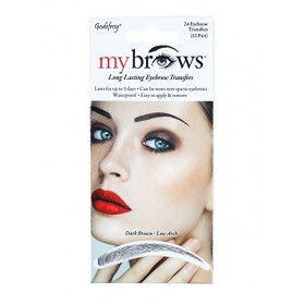 GODEFROY Sourcils auto-collants DARK BROWN x24