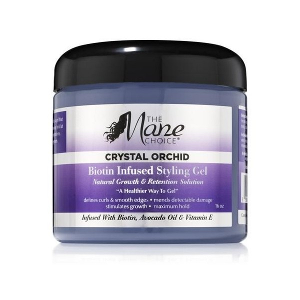 THE MANE CHOICE Gel coiffant CRYTAL ORCHID 453g
