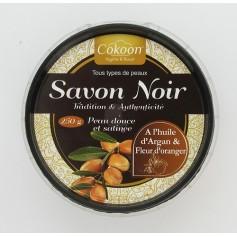 Savon noir à l'huile d'Argan et fleur d'oranger 250g