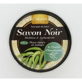 COKOON Savon noir à l'huile essentielle d'encalyptus 250g