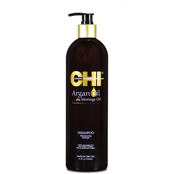 CHI Shampooing aux huiles d'ARGAN & de MORINGA 340ml