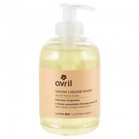 AVRIL Savon liquide pour les mains à l'huile essentielle d'orange douce BIO 300ml