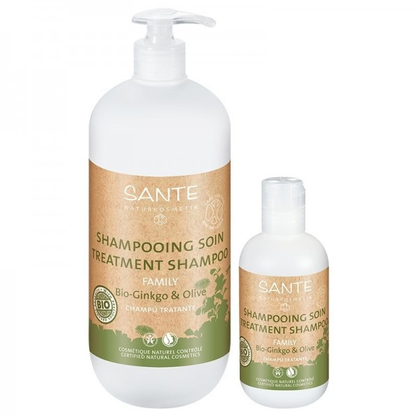 SANTE NATURKOSMETIK Shampooing réparateur GINKGO & OLIVE BIO